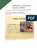 Cuadros Comparativos e Información Sobre Comida Sana y Chatarra
