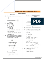 NSTSE Class 9 Solutions 2015