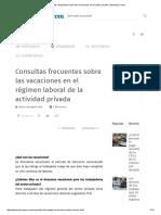 Todas Las Respuestas Sobre Las Vacaciones en El Sector Privado _ Laboraperu