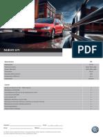 Ficha Técnica Nuevo Volkswagen Golf GTI