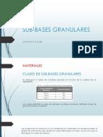 Sub Bases Granulares