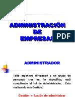 Conceptos de Administracion y Organizacion de Empresas