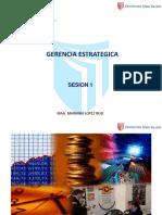 GE Sesion 1 - Gerencia Estrategica