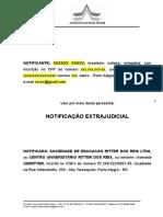 Modelo Notificação Extrajudicial - UNIPOA-UNIRITTER