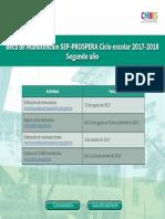 Calendario Manutencion SEP PROSPERA 2017 2018