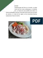 CEVICHE Uno de Los Platos Fundamentales Del Perú Es El Ceviche