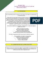 t8 Organizacion y Control en La Clase de Ef