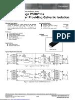 1ch Gate Driver Providing Galvanic Isolation