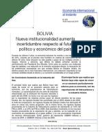EII-529-Bolivia Nueva Institucionalidad Aumenta Incertidumbre Respecto Al Futuro Politico y Econo