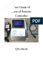 QN-H618 Remote Master User Manual