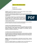 Dirieto Previdencário IIII