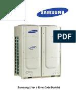 Códigos de Erores Aires Samsung