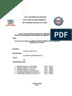 Plan y Programa de Auditoria Gobierno Regional Grupo 5