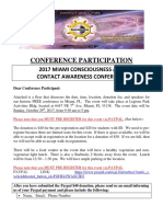 F.R.E.E.'s Conference Oct 2017 - Miami Consciousness and Contact Awareness Conference