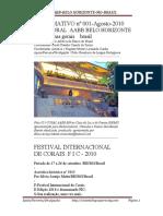INFORMATIVO 001/CBLP/CORAL AABB-BH-FESTIVAL INTERNACIONAL DE CORAIS