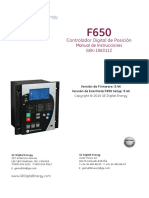 Manual de Instrucciones Del F650, GEK-106311Z Español