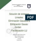 Solución de Sistemas de Ecuaciones Linealesx
