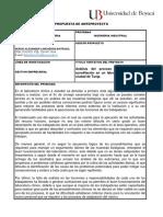 Análisis Del Proceso de Atención Para Acreditación en Un Laboratorio Clínico en La Ciudad de Tunja. - Anexo a Propuesta de Investigacion