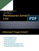 Pelatihan Penelusuran e Jurnal