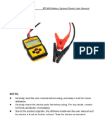 Autool Bt360 Battery Tester User Manual