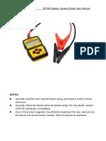 Autool Bt360 Battery Tester User Manual