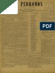 Periódico El Pedromon. Periódico de caricaturas. N° 49, Año I, Sábado 29.Jun.1901