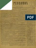 Periódico El Pedromon. Periódico de caricaturas. N° 50, Año I, Miércoles 03.Jul.1901