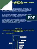 Unit Ii_drilling Fluids_calculos Fundamentales de Los Fluidos de Perforacion en Pozo