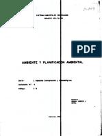 Ambiente y Planificacion Ambiental