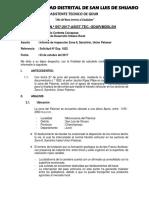 Informe n.º 057-2017- Zona 8 Sanchirio Union