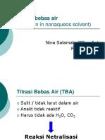 Titrasi Bebas Air Titration in Nonaqueos