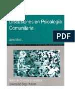 Alfaro Psicologia Comunitaria en Chile