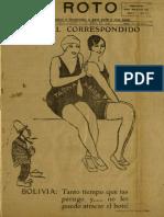 Periódico El Roto. Tacna, Chile, Sábado 01.May.1926