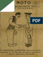 Periódico El Roto. Tacna, Chile, Miércoles 21.Abr.1926