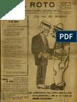 Periódico El Roto. Tacna, Chile, Miércoles 07.Abr.1926