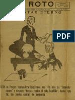 Periódico El Roto. Tacna, Chile, Sábado 08.May.1926