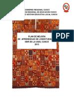 1 Plan de Mejora Ugel Cusco 2013