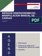 RIESGO DISERGONOMICO - Manipulación Manual de Cargas