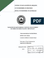 Obtención de Geopolimeros a Partir de Relave Minero de Cobre Con Ceniza Volante y Metacaolin