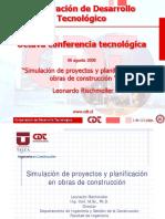 Simulacion Proyectos Planificacion Obras Construccion-leonardo Rischmoller