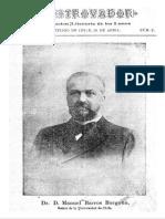 Revista El Trovador. Publicación literaria de los Lunes. Año I, N° 2. Santiago 29 de Abril de 1901