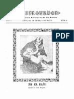 Revista El Trovador. Publicación literaria de los Lunes. Año I, N° 3. Santiago 6 de Mayo de 1901