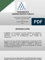 PENSAMIENTO ADMINISTRATIVO PUBLICO PRESENTACION.pptx