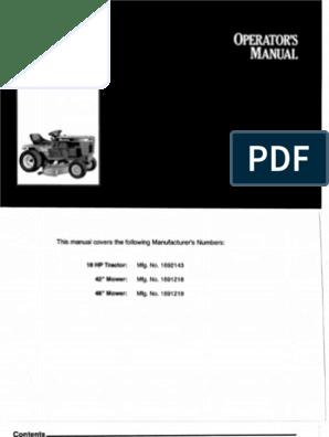 simplicity soverign manual