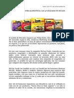 Kotler en La Industria Alimenticia- Las 4p Aplicadas en Mccain Foods