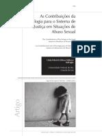 As Contribuições Da Psicologia Para o Sistema de Justiça Em Situações de Abuso Sexual