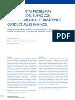 Relacion Entre Problemas Habituales Del Sueño Con Deficit Atencional y Trastornos Conductuales en Niños