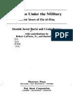 Shahid Javed Burki, Craig Baxter Et Al. Pakistan Under the Military Eleven Years of Zia Ul-Haq