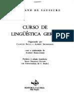 Curso de Linguística Geral - Ferdinand Saussure