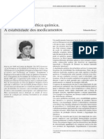 1 - Aplicações Da Cinética Química. a Estabilidade Dos Medicamentos